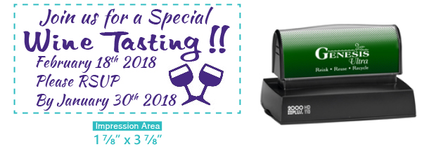 Premium Pre-Inked Rubber stamps at Great Prices from Southwest Rubber Stamp Co. Genesis pre inked rubber stamps. Secure Online ordering. Free Shipping. Fast One Day Service.